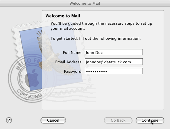 Apple Mail Step 1